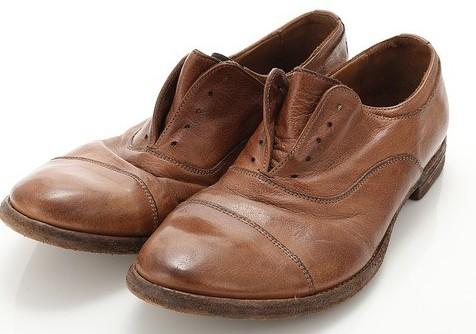 Cap toes shoes