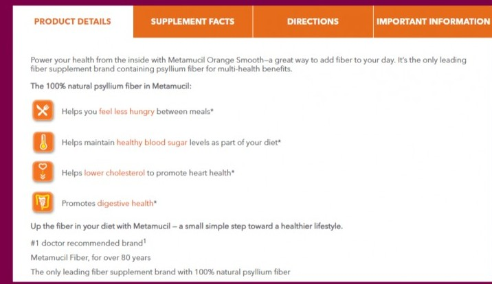 Metamucil Product Details