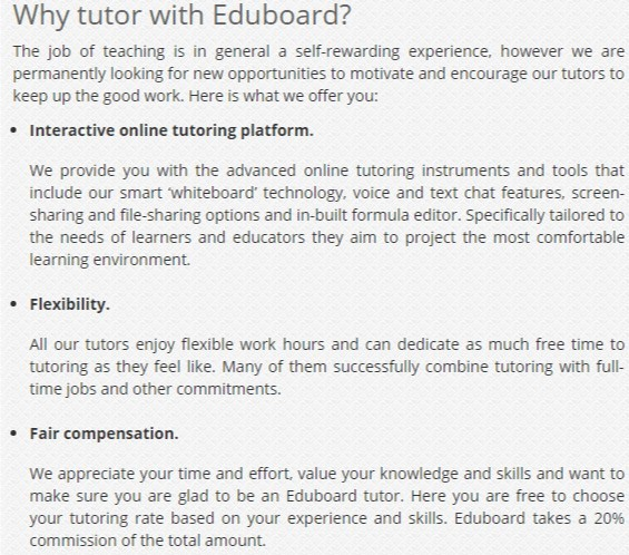 Why tutor with eduboard?