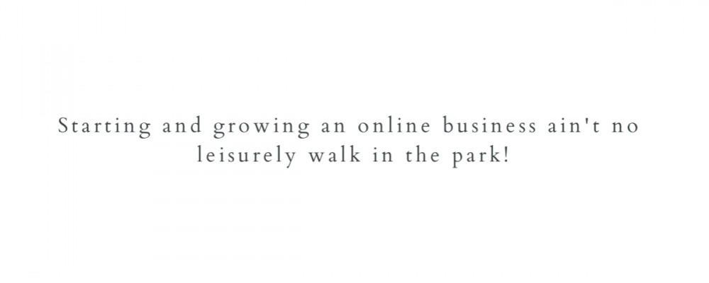 Online business - no walk in the park