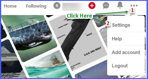 Claim a website on Pinterest - Step 1