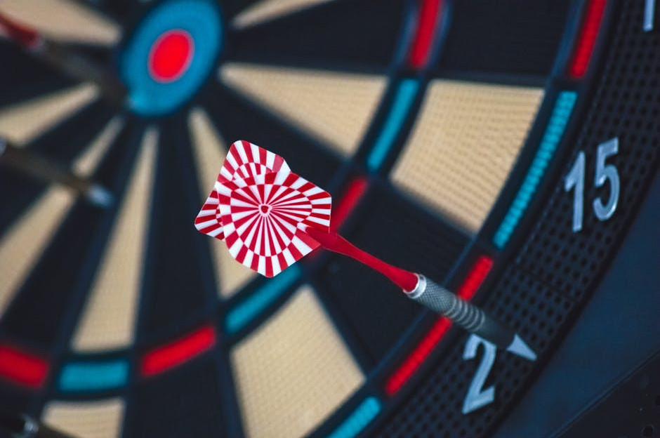 Take aim at your goals like you would with a dart board.