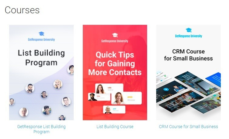 GetResponse Courses