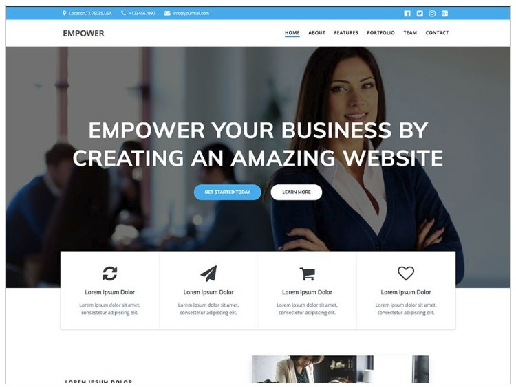 Business Theme for Website Builders