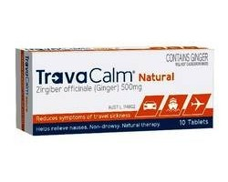 Travacalm Natural Ginger Tablets