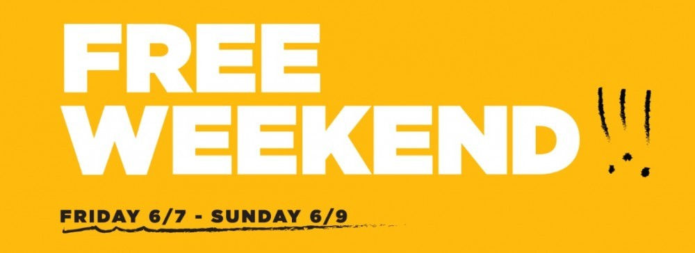 Free This Weekend Only