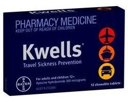 Kwells Adult Travel Sickness Tablets