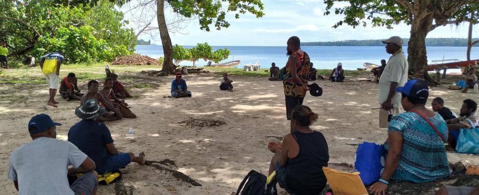 Community consultation at Karawara Island in East New Britain. Image Credit. BRCC project 2019