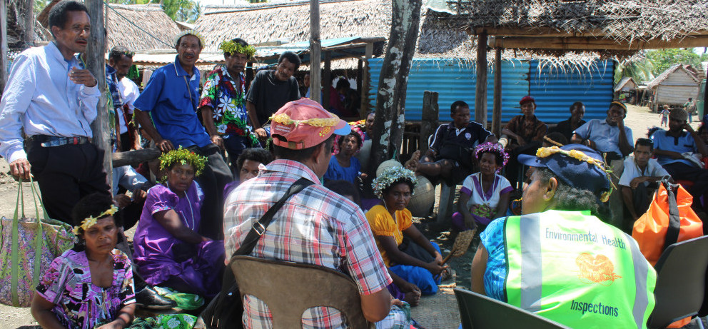 Focus group discussion at Kaileuna Island in Milne Bay province. Image Credit. BRCC Project 2019