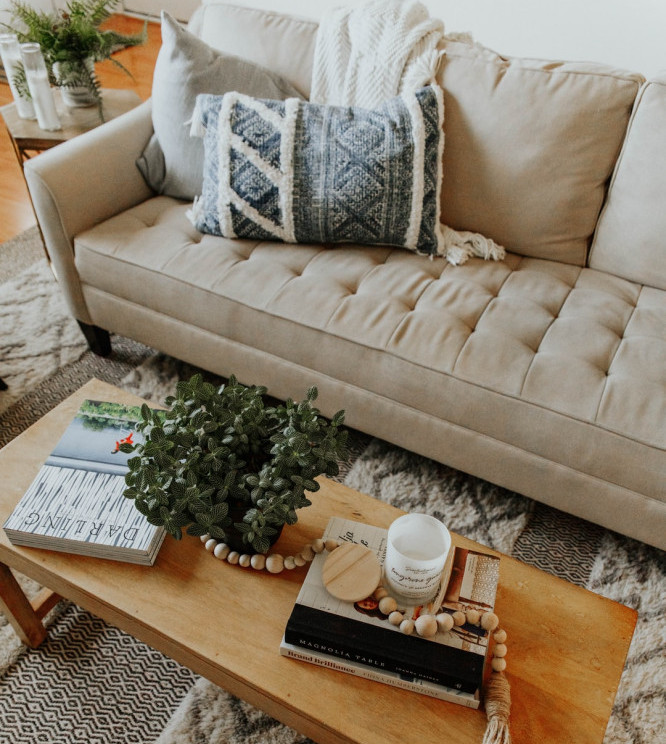 coffee table with couch