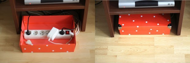 hide cords with box