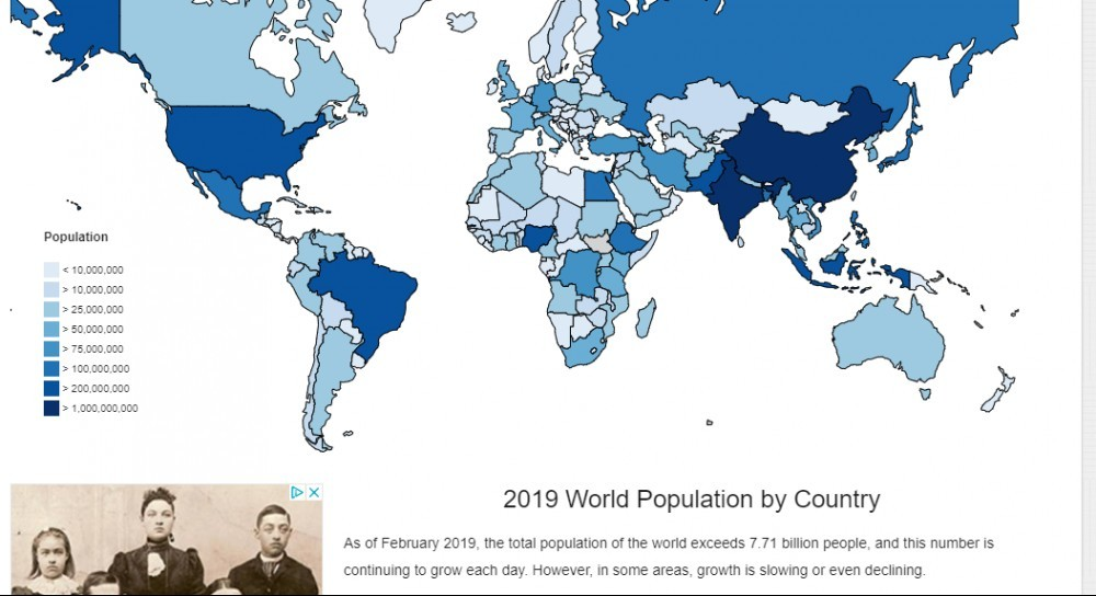 world population image