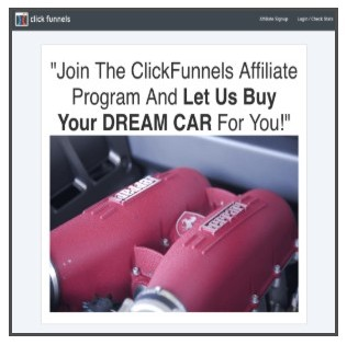 Clickfunnels dream car advert