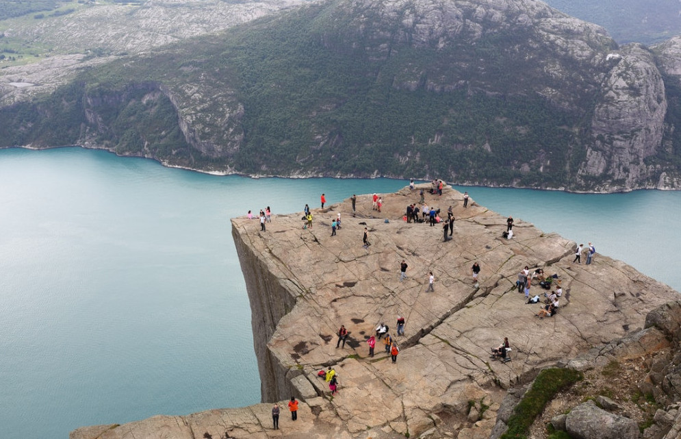 On the top of the world - Pulpit Rock