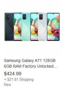Samsung Galaxy A71-eBay