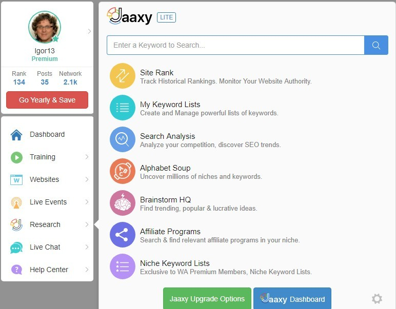 Affiliate Programs Research Section -JAAXY