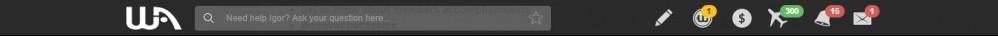 The Wealthy Affiliate Dashboard-Black Tool Bar