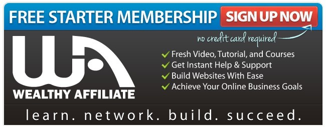 What is the Wealthy Affiliate about - Free Starter membership banner