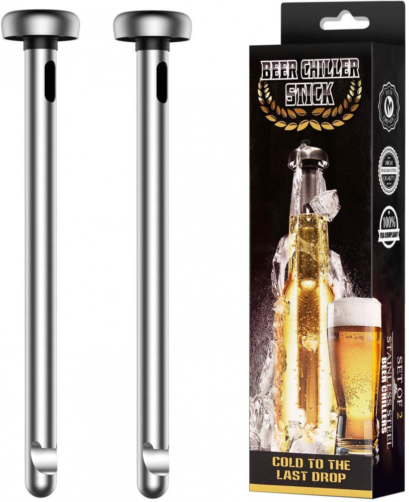Fronnor Gifts for Men Beer Chiller Sticks for Bottles Cool Unique Gift for any Beer Lover