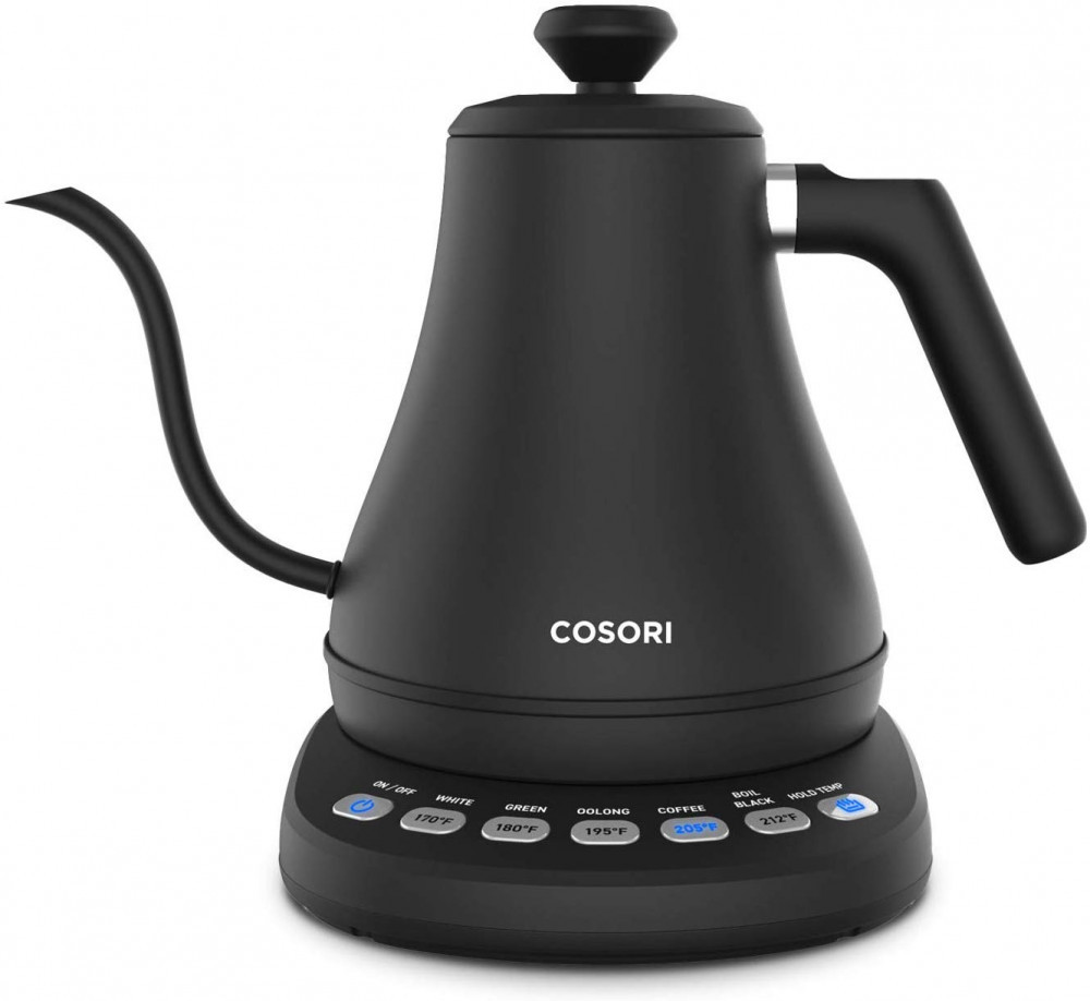 COSORI Electric Gooseneck Kettle with 5 Variable Presets, Pour Over Coffee Kettle & Tea Kettle, 100% Stainless Steel