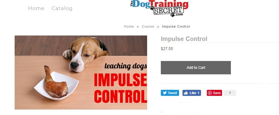 the dog training secret impulse control