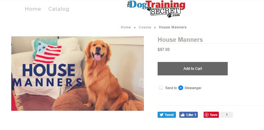 the dog training secret house manners