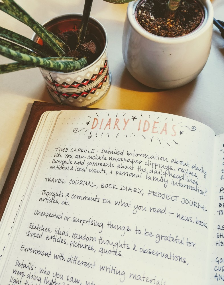 Picture of a journal page