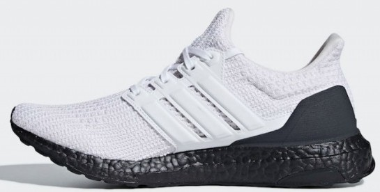 Ultra Boost 4.0 White Black - Side View
