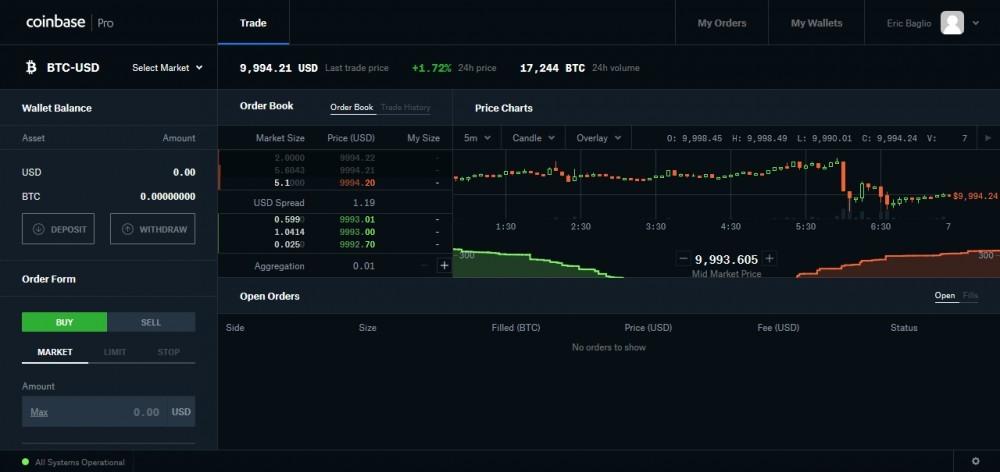 coinbase pro screenshot