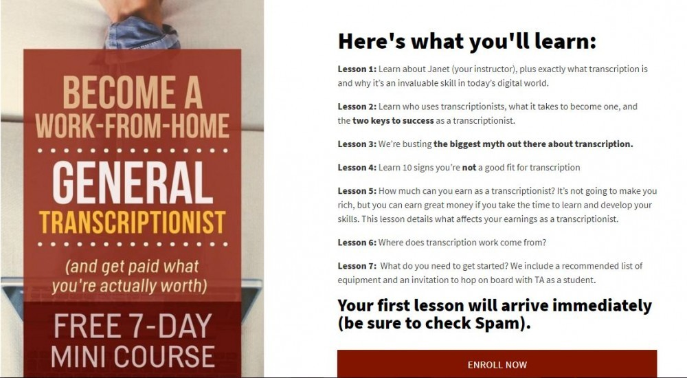 7 day free mini course
