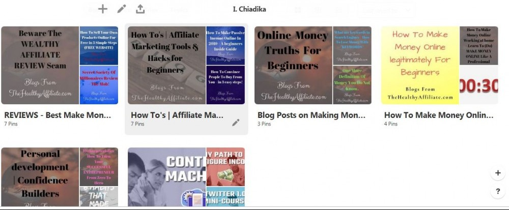 My Boards- Thehealthyaffiliate