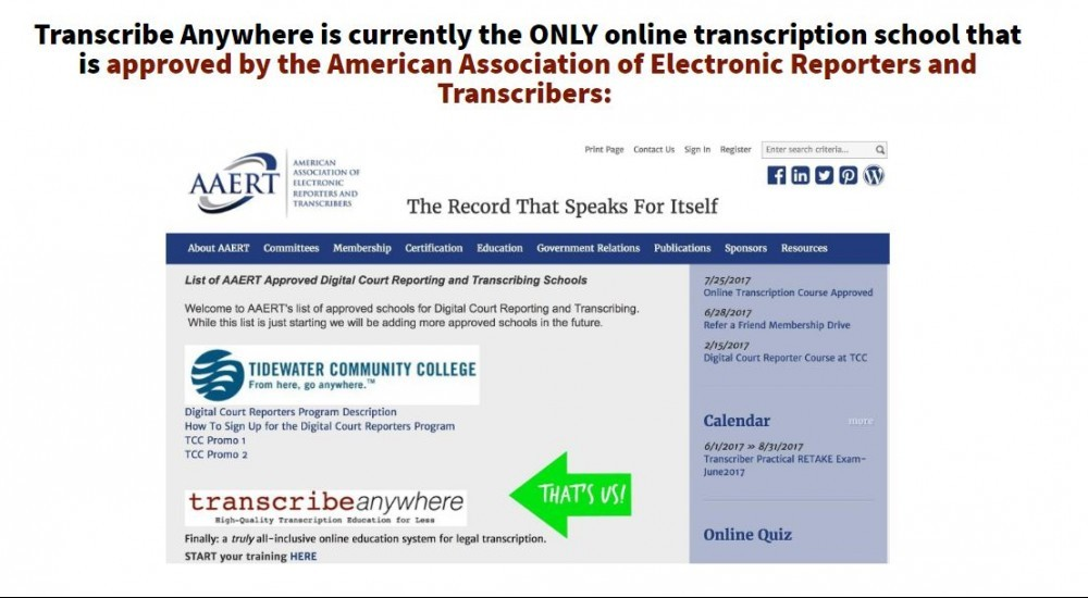 Transcribe anywhere record