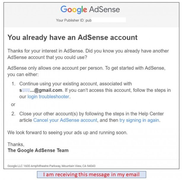 Why google messaging, already have existing adsense account?