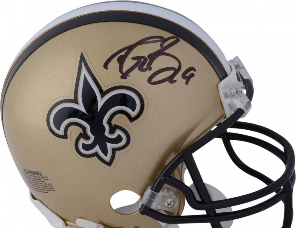 9ea02403f Drew Brees New Orleans Saints Autographed Riddell Mini Helmet – Fanatics  Authentic Certified