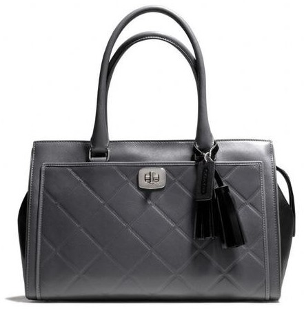 Coach Legacy Embossed Quilted Leather Chelsea Carryall Handbag