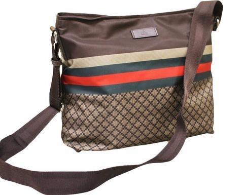 GUCCI Men's Nylon Sling Messenger Bag (Brown)