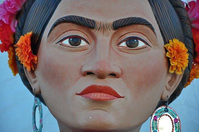 Close up of Frida Kahlo.