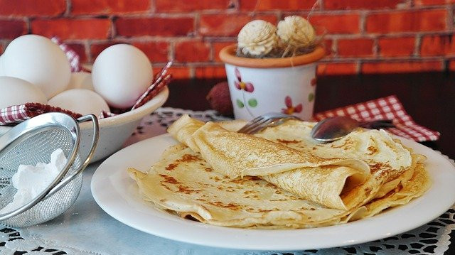 Tortillas, eggs, and a cup.