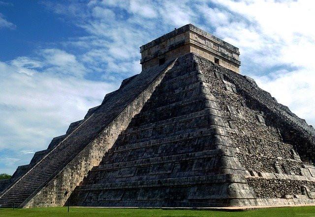 Close up of Kukulcan pyramid.
