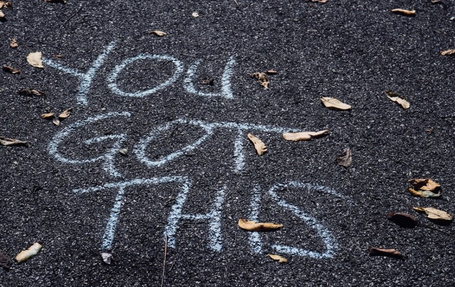 blog niches that make money, image shows words on the ground that say you got this