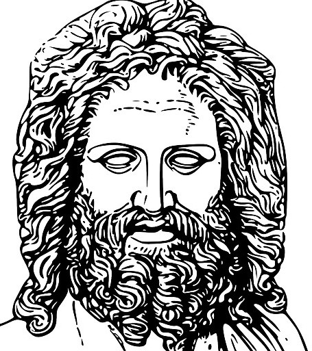cave of Zeus Crete, image shows drawing of Zeus The Greek god of thunder