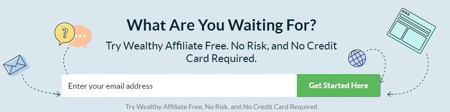image of an offer to join wealthy affiliate, this is wealthy affiliate vs affilorama 2020