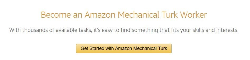 Amazon Mechanical Turk Sign Up