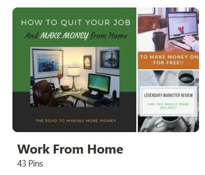 Pinterest Work From Home Board
