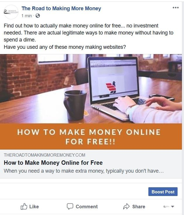 How to make a Facebook Post with link