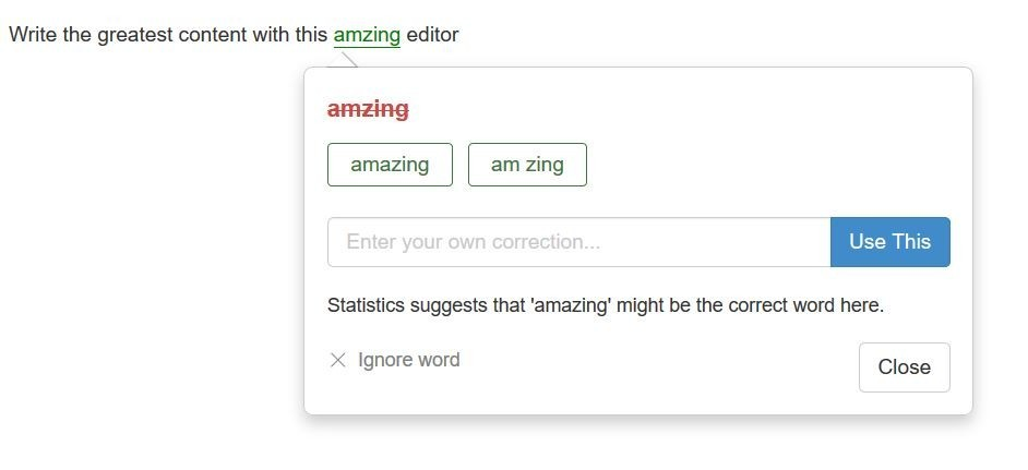 SiteContent Spelling Check