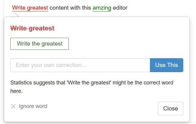 SiteContent Grammar Check