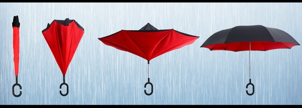 reverse close umbrella