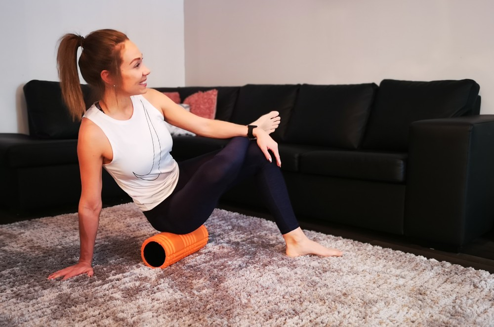 GRID Foam Roller buttocks