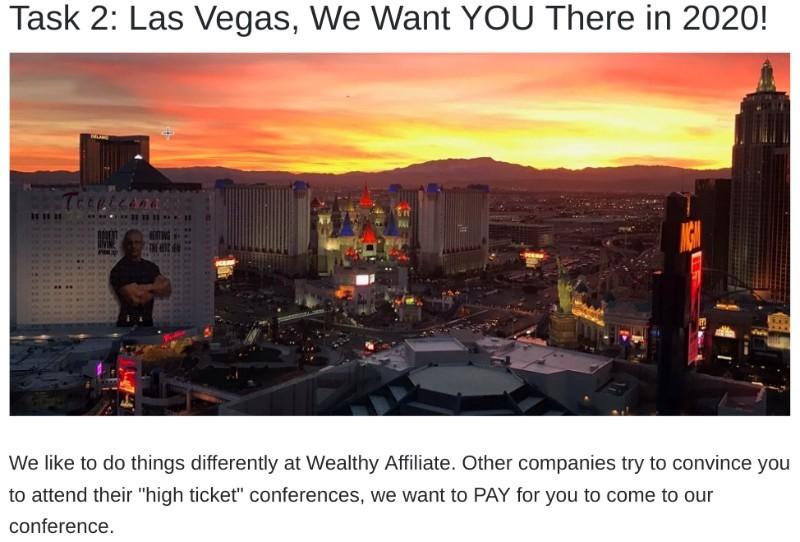 Wealthy Affiliate Las Vegas Incentive